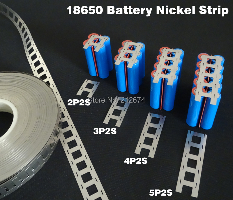 18650 battery nickel strip lithium battery pure nickel plate 2P2S 3P2S 4P2S 5p2s
