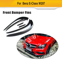 Carbon Fiber Front Bumper Trim Air Vent For Mercedes Benz E Class W207 E350 E400 E550 Coupe Convertible Sport 2014 2015 2016