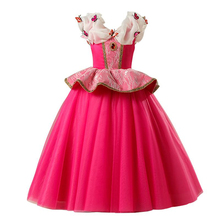 Princess Girls Formal  Dress For Wedding Evening Children  Party Pageant Long Gown Kids Dresses For Girls  Clothes 3-7Y little girl party dress ball gowns for children girls pageant gown dresses bridesmaid formal clothing kids pink princess clothes