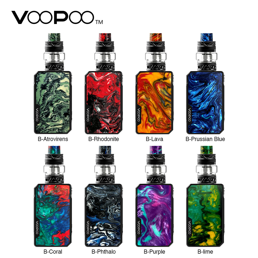 Original VOOPOO Drag Mini TC Kit 4400mAh with 5ml/2ml UFORCE T2 Tank & Uforce N1 and P2 Coils & Upgraded Firmware Mod Ecig Vape 100% original voopoo uforce t1 subohm tank 3 5ml 8ml with all new n1 0 13ohm mesh coil