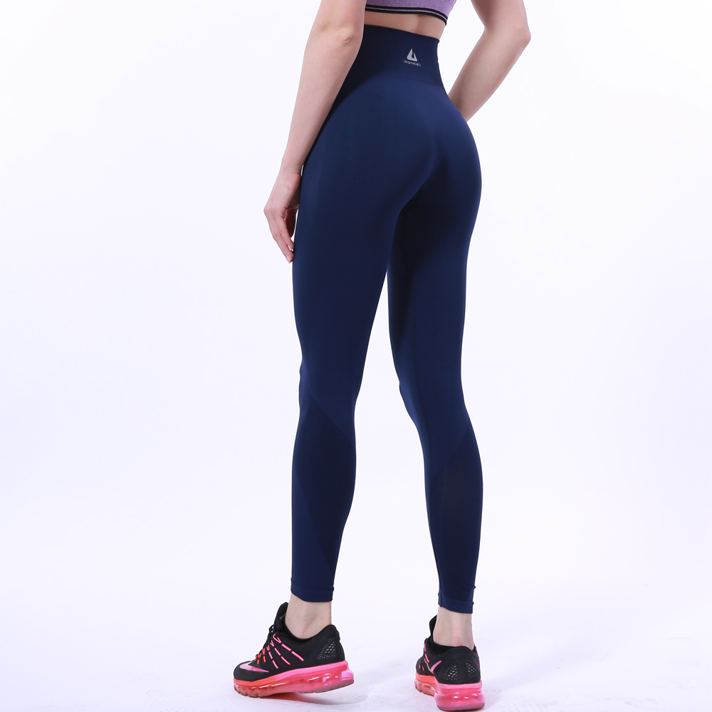 A02 New Tight Nylon Women High Waist Stretched Sports -8779