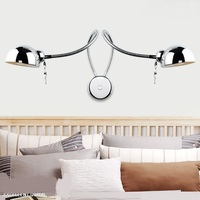 Creative simplicity led lamp bedroom bedside lamp rocker wall lamp hang modern reading lights with dimmer switch FG623