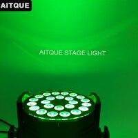 8pcs Stage Light 24pcs leds 10 watt led par rgbw 4in1 led par 64 can light concert 10w par dmx 24x10w