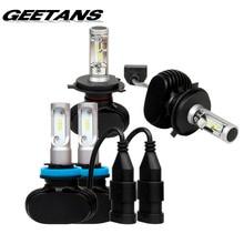 GEETANS H4/H7/H11/H13/9005 (HB3)/9006 (HB4) P13 LED Farol do carro Único/Hi-Lo Feixe Auto Levou Farol Luz de Nevoeiro Lâmpada 8000LM 6500 K