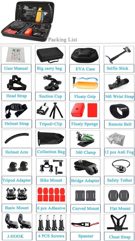 Husiway-Accessories-kit-for-Gopro-Hero-5-Session-Gopro-Hero-6-Black-Xiaomi-Yi-4K-for (4)