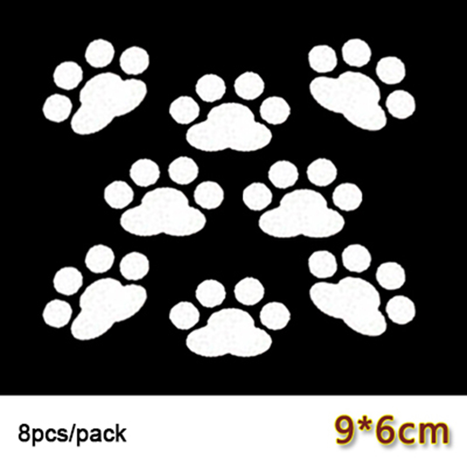 Image 3 - 8 pcs/lot Car Window Bumper Body Decal Sticker Bear Dog Paw Foot Prints Black Red White OCT 21-in Car Stickers from Automobiles & Motorcycles