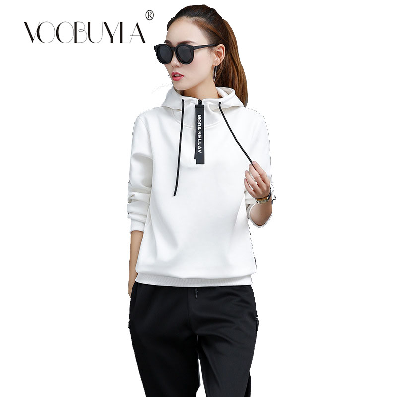 34e1421797c Detail Feedback Questions about Voobuyla Plus Size M 3XL Autumn Winter Women  Solid Running Set Fitness Yoga Sportswear Gym Hooded Sweater Suit Sports ...