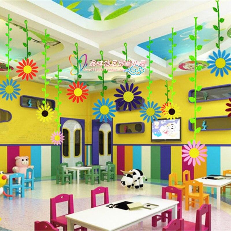 Shopping malls primary school kindergarten decorative