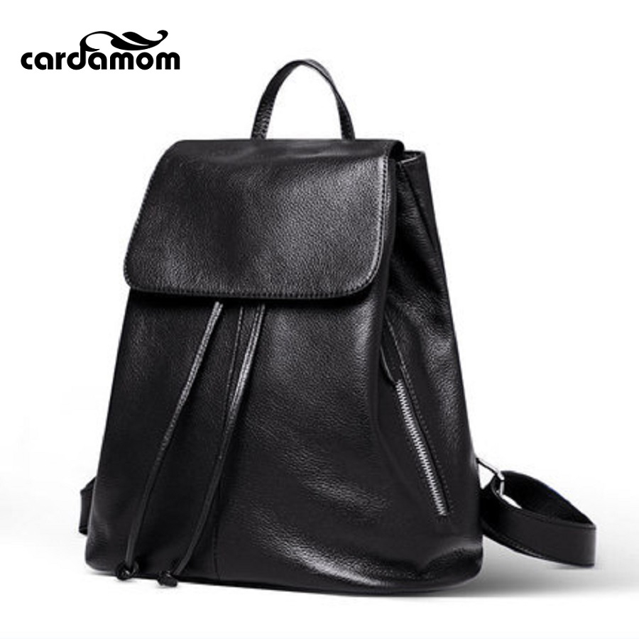 Cardamom Fashion Women Backpack High Quality Youth Leather Backpacks For Teenage Girls Female School Shoulder Bag
