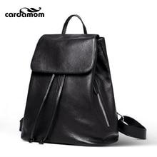 Кардамон модные женские туфли рюкзак высокое качество Молодежные кожаные рюкзаки для девочек-подростков Женский школьная сумка рюкзак