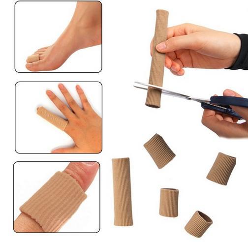 Fabric Gel Tube Bandage Finger Toe Protectors Feet Pain Relief Corns And Calluses Tube Bunion Guard 100% Guarantee Constructive 150 Pcs/lot size 15cm