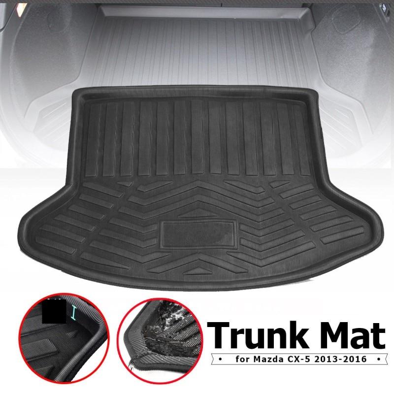 Bonus-Mats Custom Fit All-Weather Full Coverage Waterproof Car Cargo Liner Trunk Mat for Audi Q7 5 seat 2006-2015 Beige
