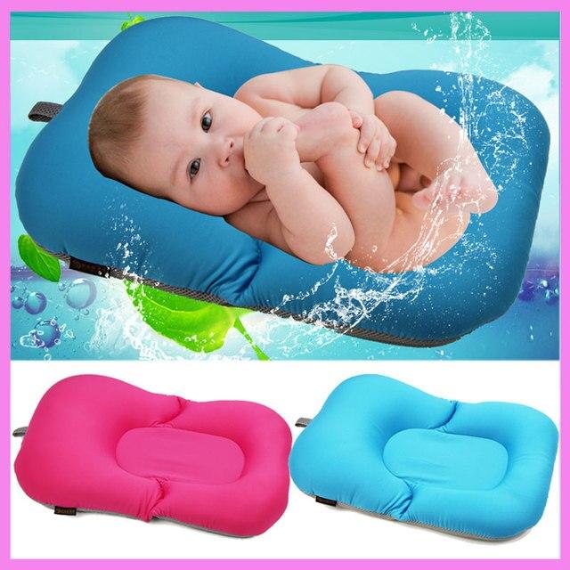 Newborn Baby Bathtub Pillow Pad Lounger Air Cushion Floating Soft ...