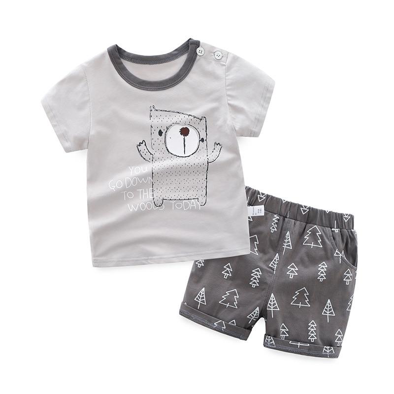 HANQIYAHULI baby jongens zomer kleding set korte mouwen t-shirt + - Kinderkleding - Foto 2