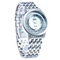 XG77 G D GLE VDO Womens Watches Silver Ladies Bracelet Watch Fashion Casual Quartz Wristwatches Relogio
