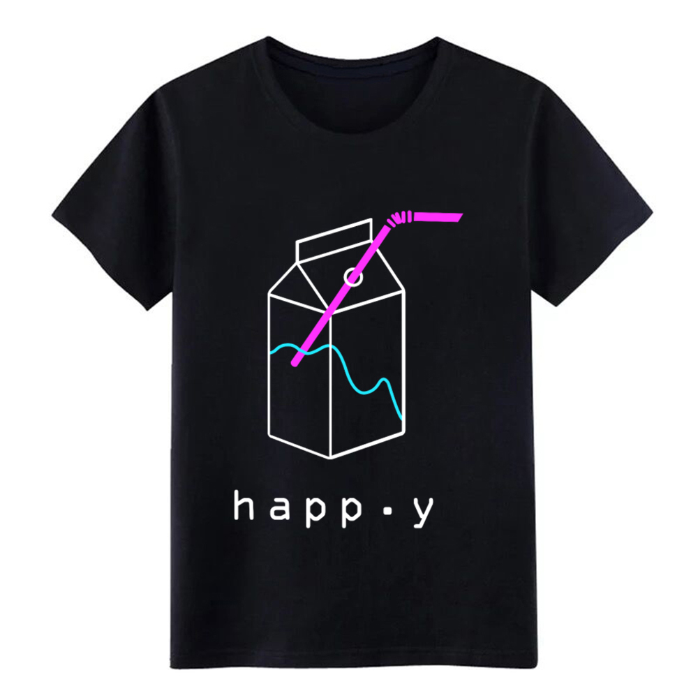 Happy Aesthetic Vaporwave T Shirt Customized Short Sleeve Round Collar Pattern Fitness Comfortable Spring Autumn Family Shirt
