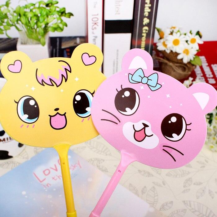 QSHOIC 60PCS/lot fan ballpoint pen Cute cartoon pen gift pen wholesale South Korea's creative stationery wholesale fan pen цены онлайн