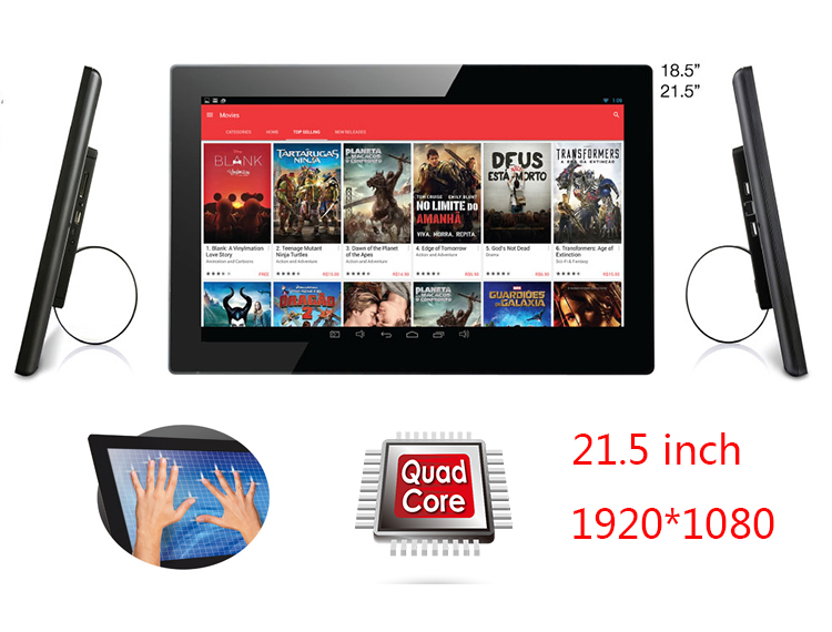 21.5 Inch Android Touch Smart TV-tablet Pc-KIOSK All In One Display (Katkat, Rockchip3188,quad Core, 1GB+8GB, VESA,Bluetooth)