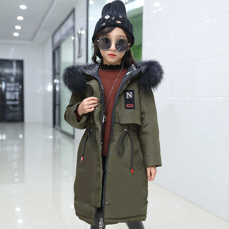 ZENOBIAPEARL Girls Duck Down Coat Hooded Colored Fur Collar Size 7 8 9 10 11 12 13 14 Years Child Clothes Thick Girl OuterwearZENOBIAPEARL Girls Duck Down Coat Hooded Colored Fur Collar Size 7 8 9 10 11 12 13 14 Years Child Clothes Thick Girl Outerwear