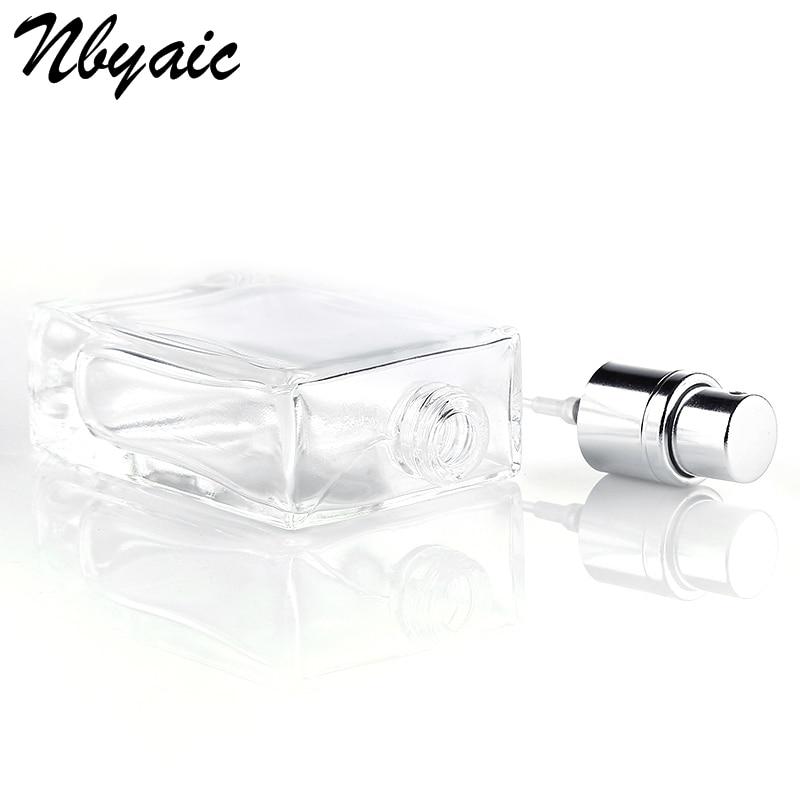 Nbyaic 50Pcs 30ML 50ML Mini Glass Spray Perfume Bottle Atomizer Spray Can Travel Portable Cosmetics Can Fill Empty Bottles