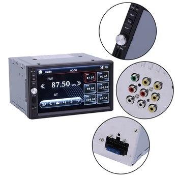 7021G 7 Inch HD 2 Din Bluetooth Car In-Dash Radio Stereo Audio