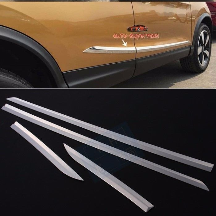 304 S. garniture de moulage de porte latérale en acier chromé pour Nissan Qashqai 2014 2015 2016 2017
