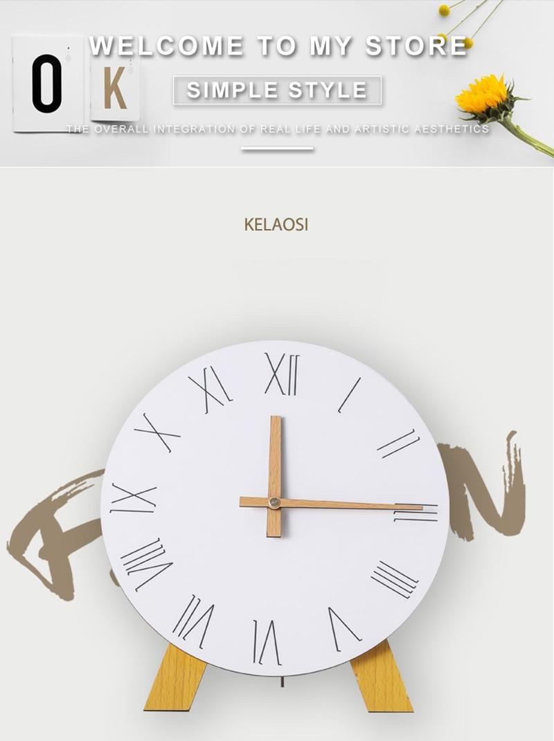 study clock watch office office table decoration flip calendar bamboo clock desk clock circular electronic desktop clock dementia clock (1)