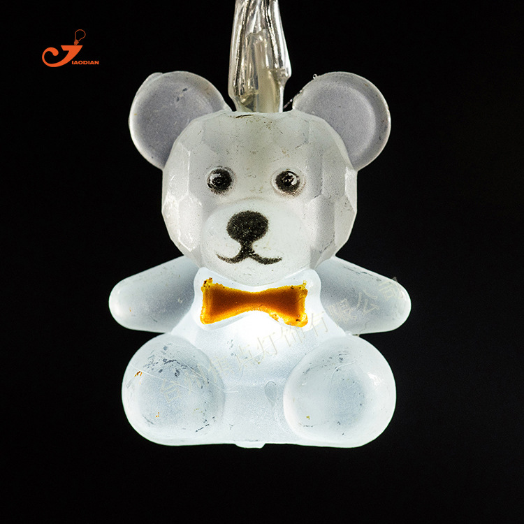 10 3D LED lamps White Lovely Bear Christmas String Light for outdoor/Home Garden Wedding paty/patio Garland Decor Fairy Lighting