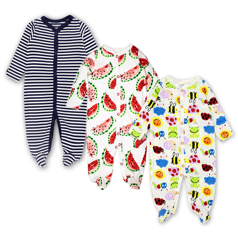 3Pcs Carter Newborn Rompers Baby Girls Boy Clothes Long Sleeve Cute Cartoon Print Outfits Infant Jumpsuit Baby clothing Sets infant baby girl boy clothes rompers long sleeve stripe cute romper jumpsuit outfits baby boys girls clothes
