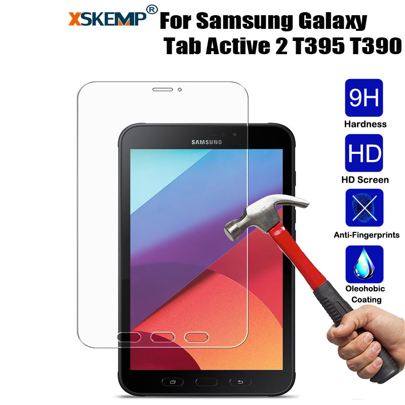 Tempered Glass Film For Samsung Galaxy Tab Active 2 T395 T390 8.0 Tablet Screen ProtectorExplosion-Proof Guard Cover Glossy Film