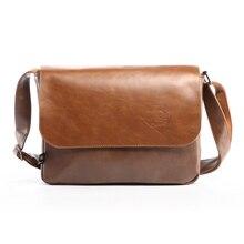 2016 Vintage Design Men's Messenger Bags PU Leather Casual Men Handbag Man Crossbody Bag Leisure Business Shoulder Bag