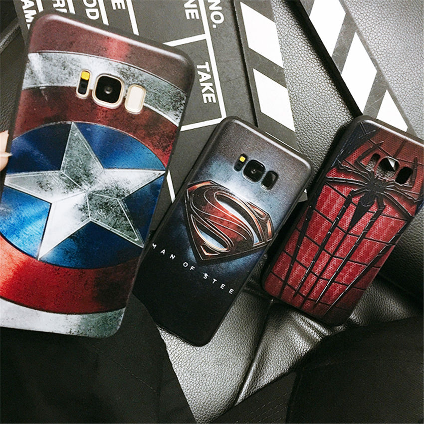 Fashion Superhero Case Marvel Avengers Superman Silicone Soft Phone Case For Samsung Galaxy S7 S7Edge S8 S8Plus S9 S9Plus Note9 чехлы марвел