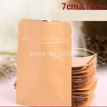 100x Custom Order Accept Kraft Paper Tin Tie Foil Lined Coffee Bag / Kraft 250g 500g Tea Coffee Bag with Valve