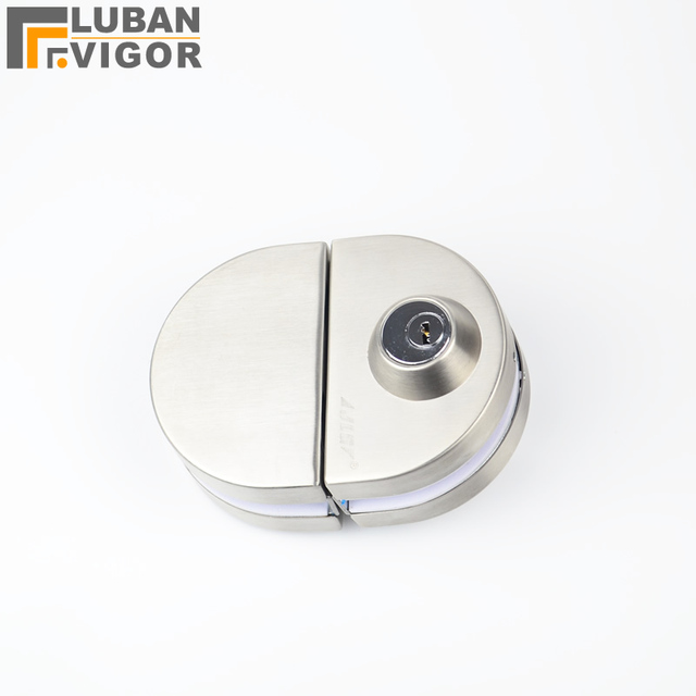 Sliding Central Glass Door Lock 304 Stainless Steel Without Hole Bidirectional Unlock