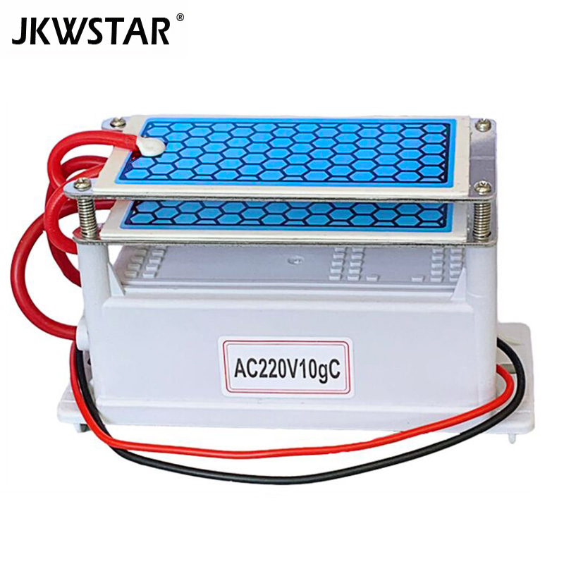 220V 10g/5g Portable Ceramic Ozone Generator Double Integrated Long Life Ceramic Plate Ozonator Air Water Cleaner Air Purifier