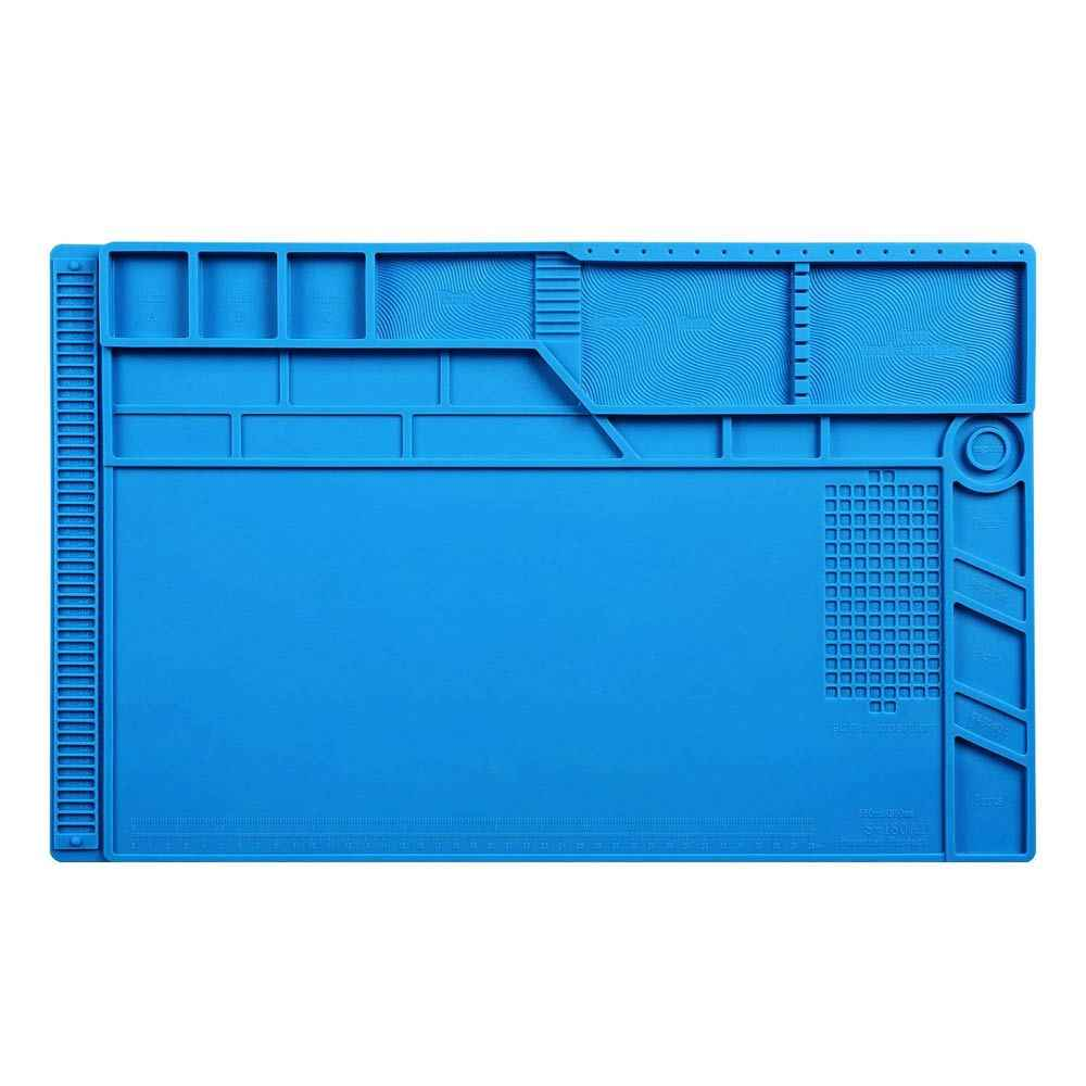 Новейший S-180 55*35 см BGA теплоизоляция силиконовый коврик паяльный ремонт обслуживание платформа Настольный коврик с магнитной секцией