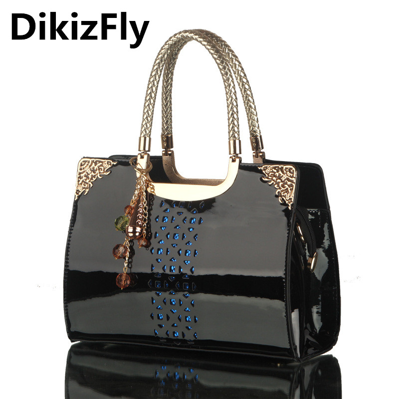 DikizFly Large Leather totes bag women handbags Luxury Shoulder bags Brand Designer Crossbody bag Ladies Fashion Messenger bag