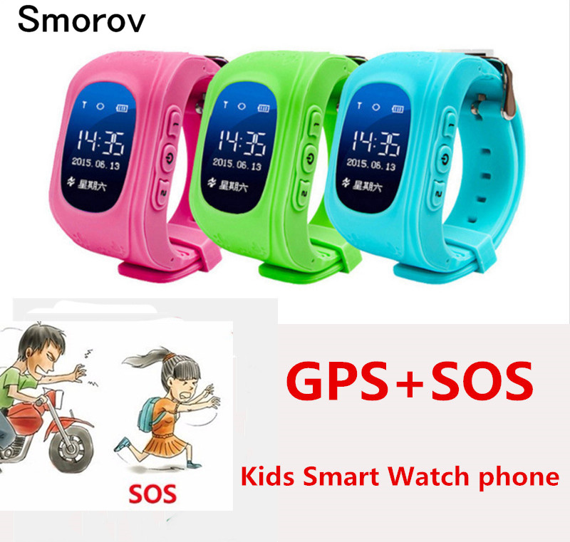 Anti Lost Q50 Child GPS Tracker SOS Smart Monitoring Positioning Phone Kids GPS Watch Compatible For