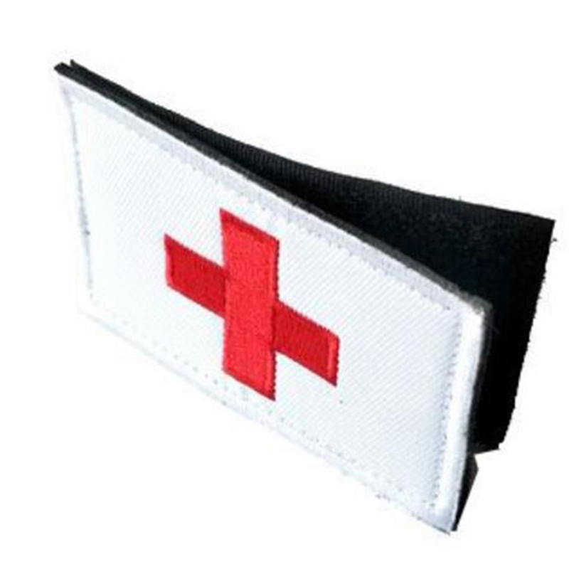 Red Cross Paramedic Army Combat Morale First Aid Patches Tactical Armband Insignia Patch Badge Patch
