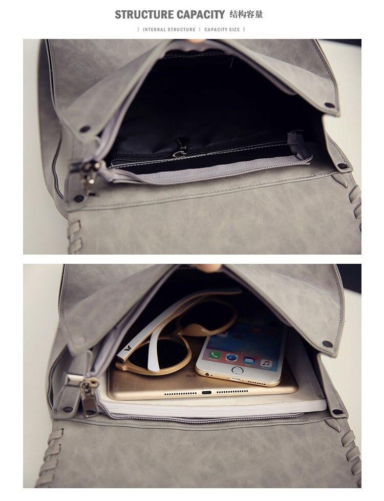 2017 Preppy Style Women Backpack Teenage Girls Pu Leather Backpack Female SchoolBag Machila Femanina Tassel Backpacks Travel Bag (48)