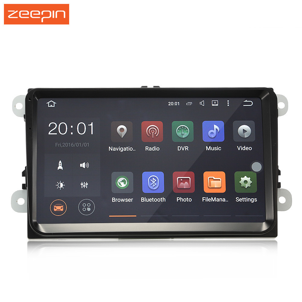 Android 6.0 9 inch 2 din GPS Navigation Car Radio Player Mirror Link FM Video Car MP5 Player WiFi Steering wheel Control for VW amprime 9 car radio gps android 9 wifi fm mirror link 2 din touch screen car multimedia player audio player autoradio for vw