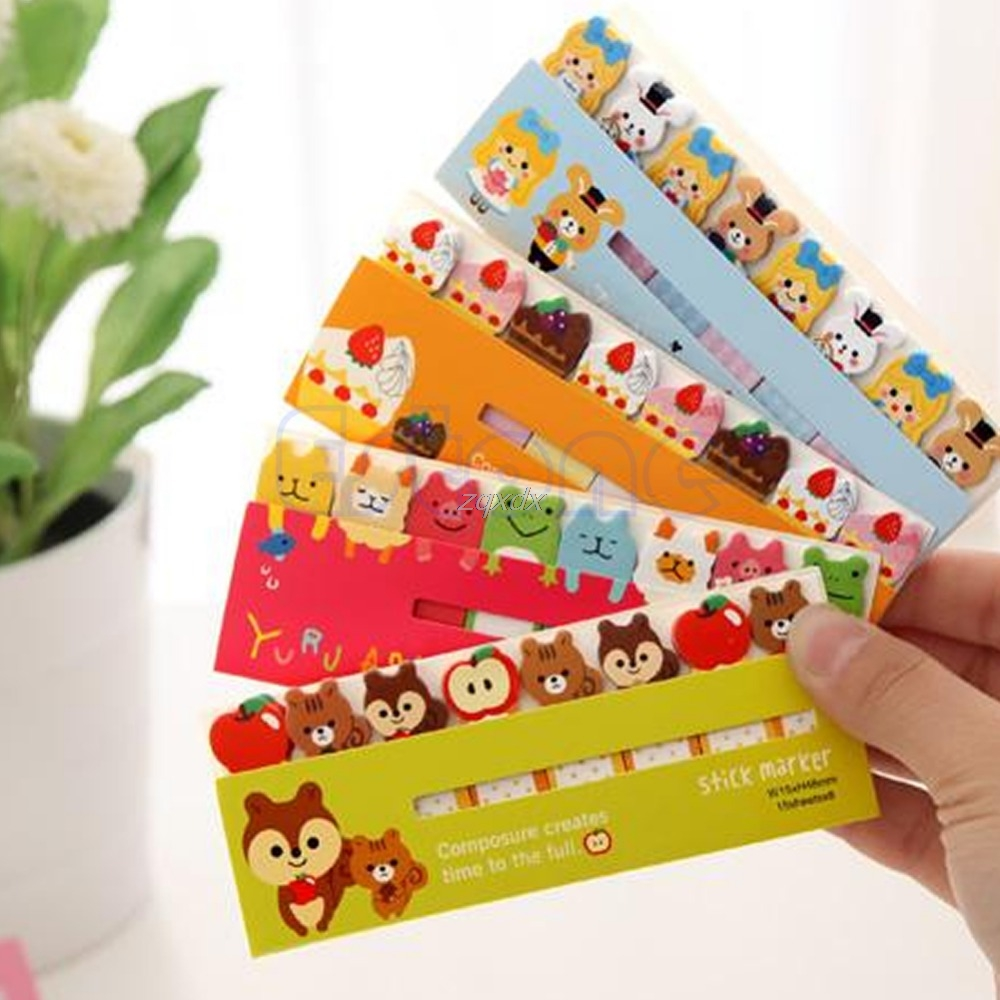 Cute Funny 120 Pages Sticker Post It Bookmark Marker Memo Flags Tab Index Sticky Notes animal cartoon Z11 Drop ship