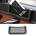 New Car Storage Net Automotive Pocket Organizer Bag For Mobile Phone Holder Auto Pouch Adhesive Visor Box Car Accessories 15*8cm
