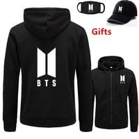 Mask&Cap as Gifts BTS hoodies men women Bangtan Boys hip hop Rapper Bboy Popper Locker dancer DJ hooded jacket tracksuit coat