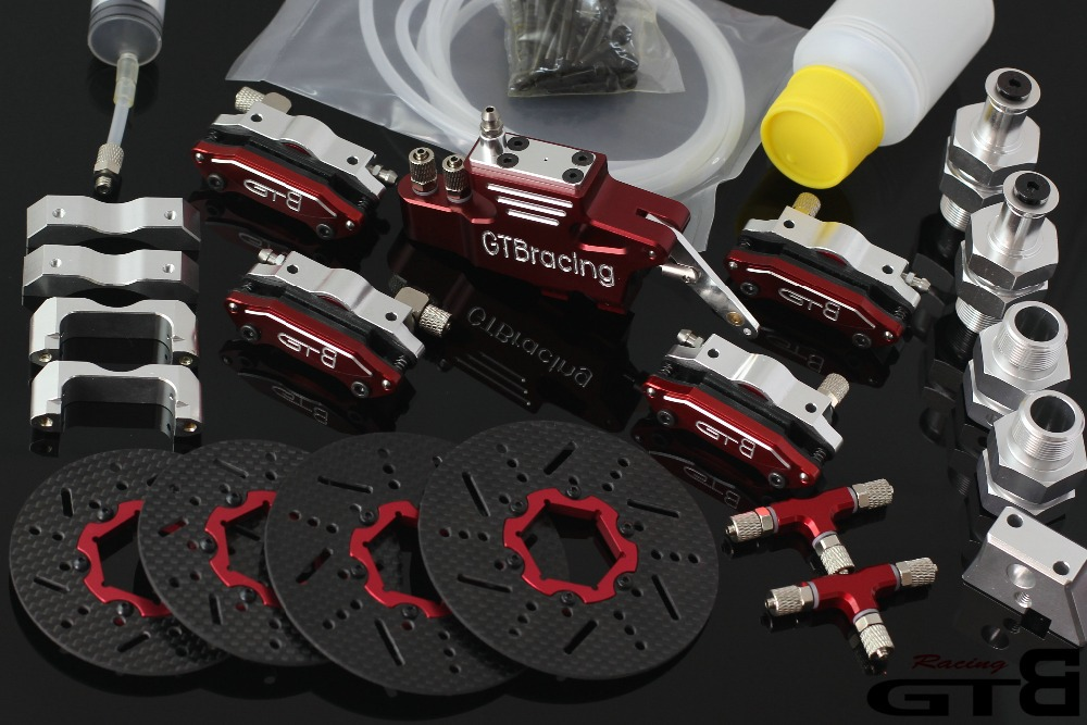 1 5 rc car gas GTB racing 4 wheel hydraulic disc brake for 1 5 Scale