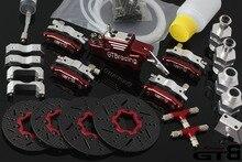 GTB racing freno de disco hidráulico de 4 ruedas para coche de control remoto, vehículo de control remoto de 4 ruedas, para escala 1/5, gas baja 5B 5T 5SC GR077, envío gratis, 1/5