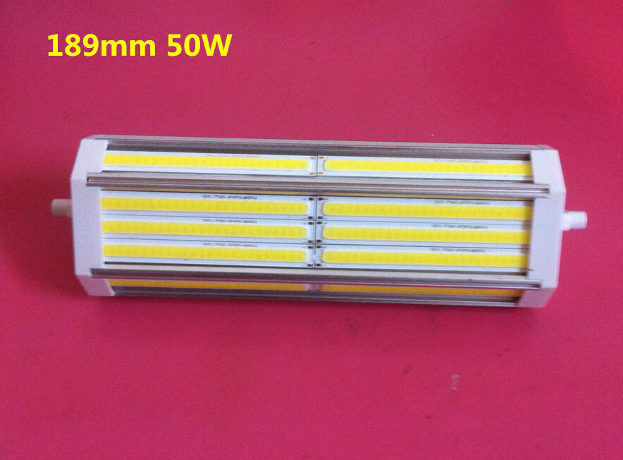 ФОТО High power 189mm led R7S light 50W 189 COB  R7S lamp with No noise cooling Fan replace 500W halogen lamp Fan