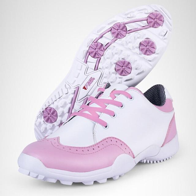 US $108.18 |Scarpe Donna Sport Rosa Donna Scarpe Da Golf Da Golf PGM Sneakers In Pelle di Marca Impermeabile Zapato Golf Mujer Golfschuhe Damen in