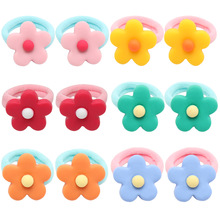 12Pcs/Lot Flower Headband for Baby Girls High Elastic Hair Scrunchies Stretchy band Ties Korean Kids Accessories