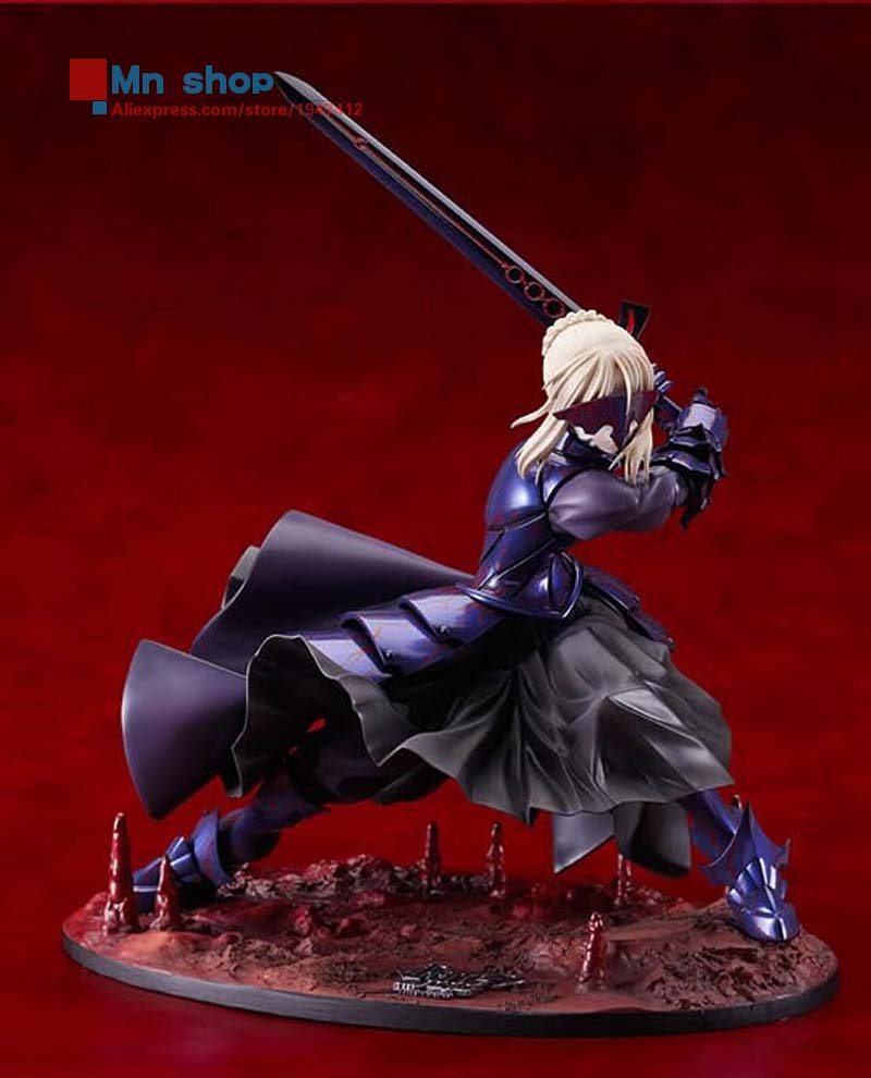 Hot Figure Toys 11 Japanese Anime Fate/Stay Night Black Saber Fate Humble King PVC Action Figure Toy Gift Collection P20 men luxury automatic mechanical watch fashion calendar waterproof watches men top brand stainless steel wristwatches clock gift